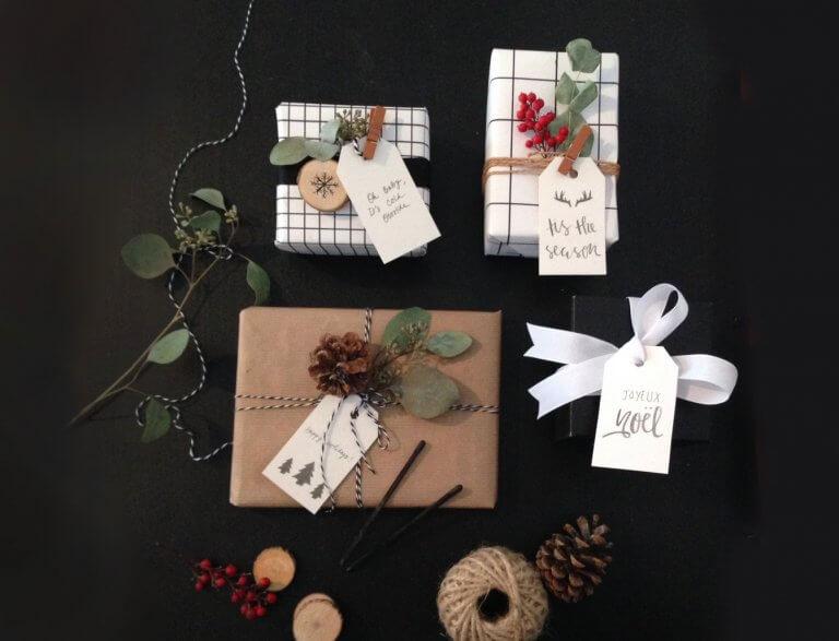 20 idées pour votre emballage de Noël