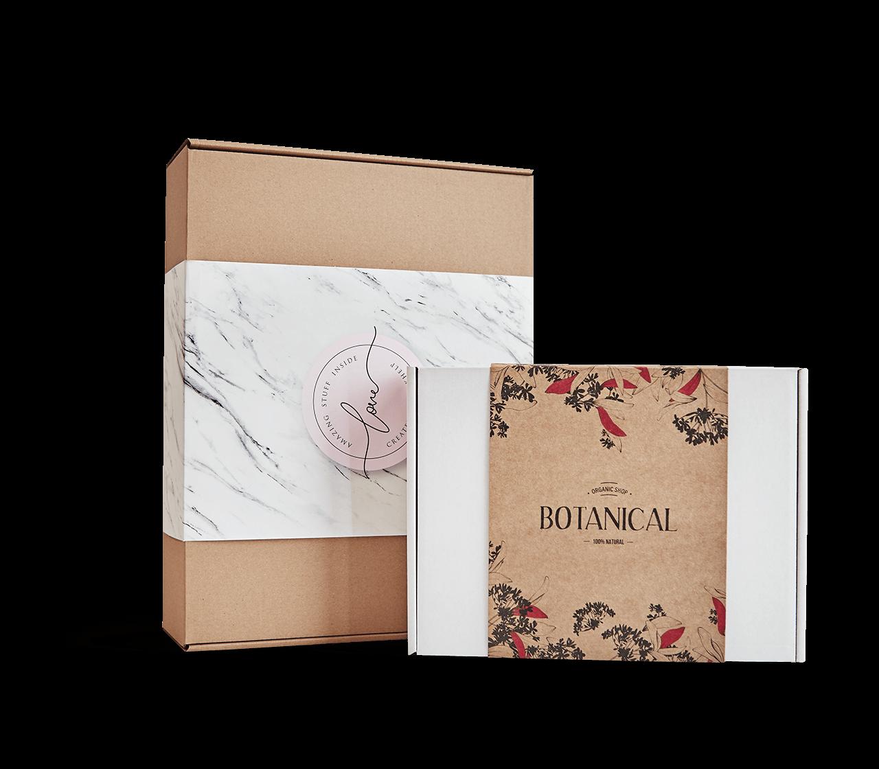 Boîte avec bandeau
